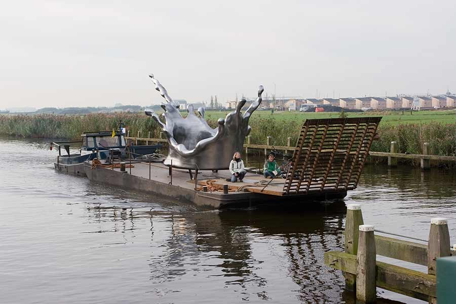 Water sculpture Mercury Rising Groenewwoud Buij Sneek